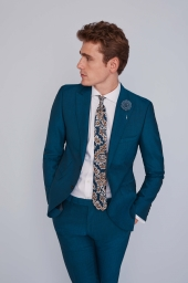Moss London Peacock Blue Suit