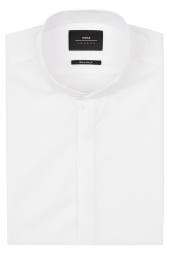 Moss London Extra Slim Fit Wing Collar Dress Shirt with Button Cuffs