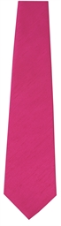 Hot Pink Polyester Tie