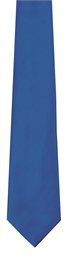 Royal Blue Polyester Twill Tie