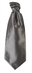 Slate Grey Polyester Twill Self Tie Cravat