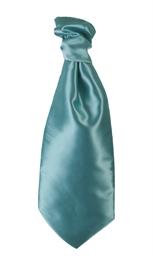Aqua Blue Twill Self Tie Cravat