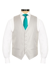 Junior Modena Silver self patterned morning waistcoat