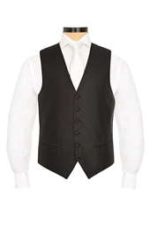 Junior Torino Black self patterned morning waistcoat