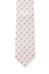 Napoli Ivory Polyester Patterned Tie