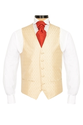 Junior Harvest Gold diamond patterned morning waistcoat