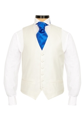 Junior Alfa White self patterned morning waistcoat