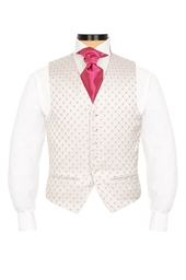 Junior Ballino Dusky Pink diamond patterned morning  waistcoat