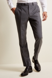 MOSS 1851 GREY TWILL TROUSERS