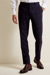 MOSS 1851 NAVY BLACK CKECK TROUSERS