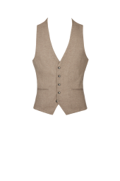 Moss London Neutral Waistcoat