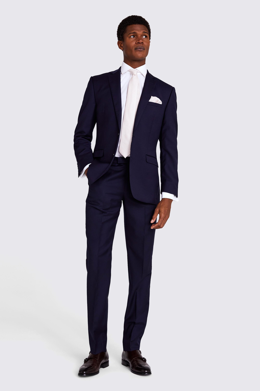 a44811203a273f Moss 1851 Navy Blue Lounge Suit | Moss Hire