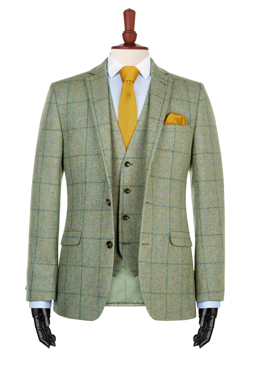 1851 Green Multi Check Tweed Jacket