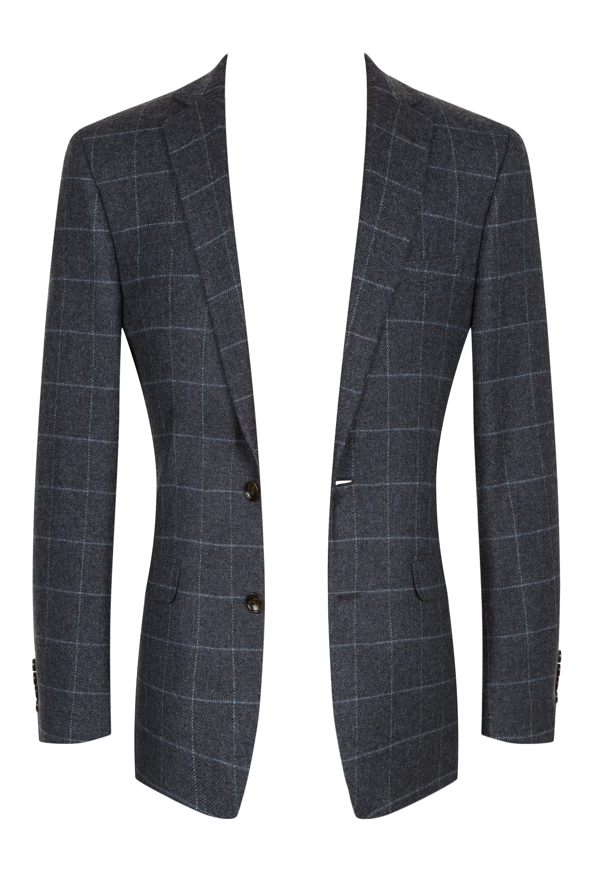 100/% WOOL TWEED FABRIC MIX LT GREY//PINK WINDOWPANE CHECK MADE IN GREAT BRITAIN